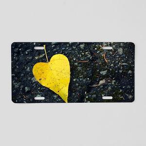 A Whole Heart Aluminum License Plate