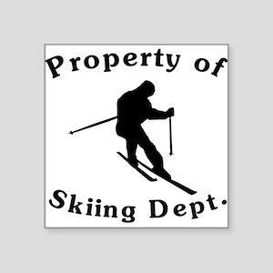 Property Of Skiing Dept Sticker