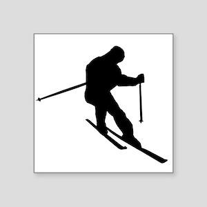 Skier Silhouette Sticker