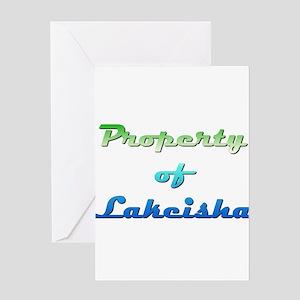 Property Of Lakeisha Female Greeting Cards