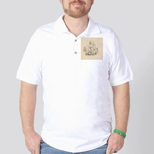 vintage sailing ships Golf Shirt