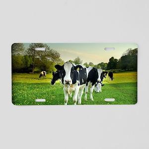 Cow lomo No 5 Aluminum License Plate