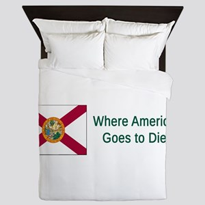 Florida Humor #4 Queen Duvet