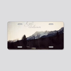 Go Into the Unknown Aluminum License Plate