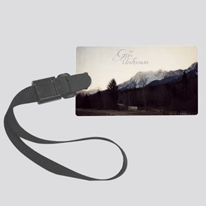 Go Into the Unknown Large Luggage Tag