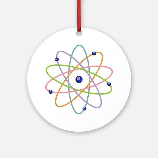 Atom Model Ornament (Round)