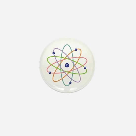 Atom Model Mini Button