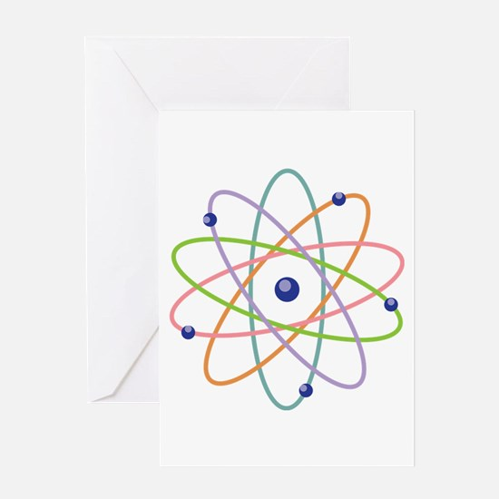Atom Model Greeting Cards