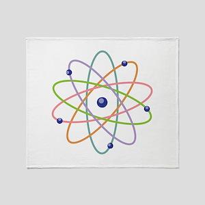Atom Model Throw Blanket