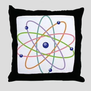 Atom Model Throw Pillow