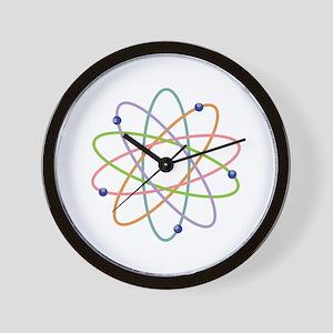 Atom Model Wall Clock