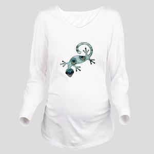 Gecko Long Sleeve Maternity T-Shirt