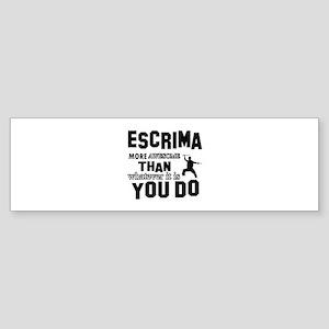 Awesome Escrima designs Sticker (Bumper)