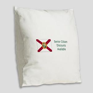 Florida Humor #2 Burlap Throw Pillow