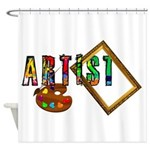 Artist-Frame-pallet Shower Curtain