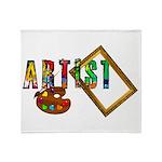 Artist-Frame-pallet Throw Blanket