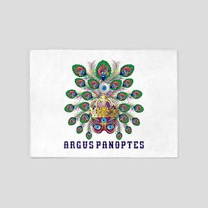 Mardi Gras Argus Panoptes 5'X7'area Rug