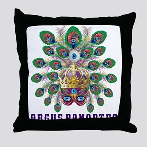 Mardi Gras Argus Panoptes Throw Pillow