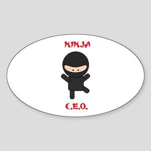 Ninja C.E.O. Sticker (Oval)