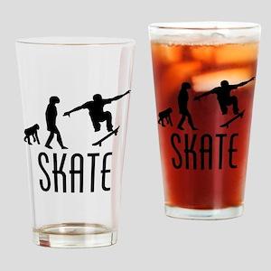 Skate Evolution Drinking Glass