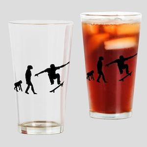 Skateboard Evolution Drinking Glass