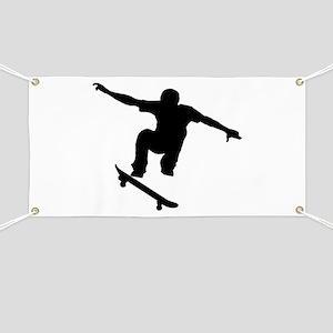 Skateboarder Silhouette Banner