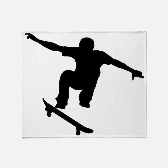 Skateboarder Silhouette Throw Blanket