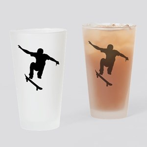 Skateboarder Silhouette Drinking Glass