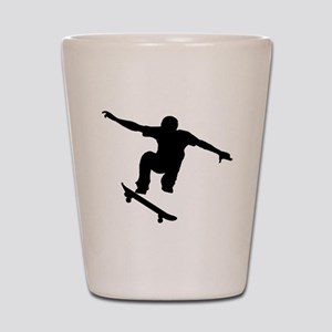 Skateboarder Silhouette Shot Glass