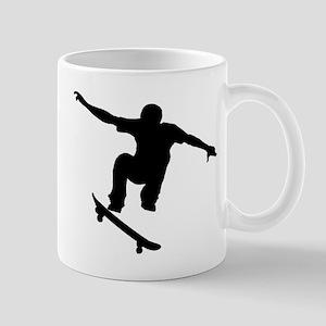 Skateboarder Silhouette Mugs