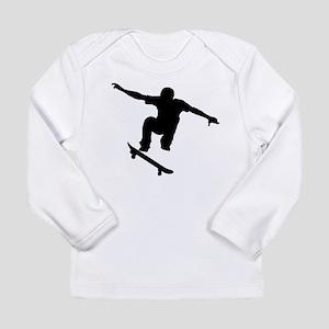 Skateboarder Silhouette Long Sleeve T-Shirt
