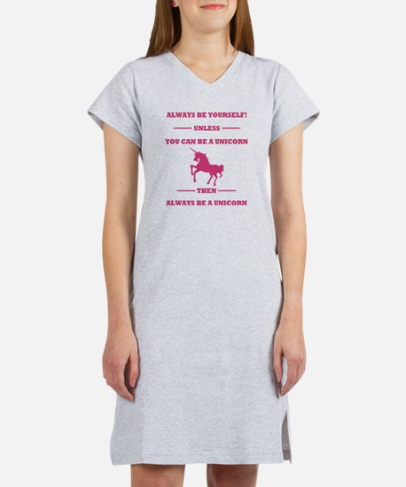 Pink Always Be a Unicorn Women's Nightshirt