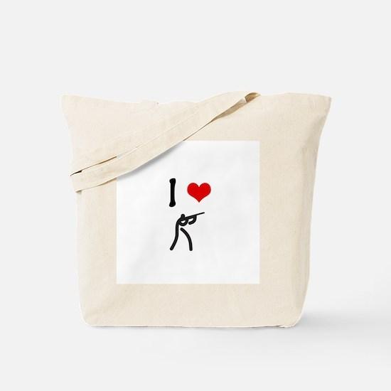 I love Shooting Tote Bag
