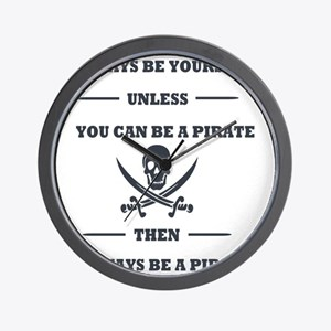 Dark Always Be Yourself Pirate Wall Clock