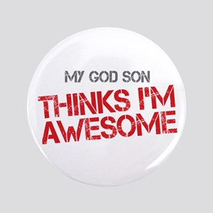 """God Son Awesome 3.5"""" Button"""
