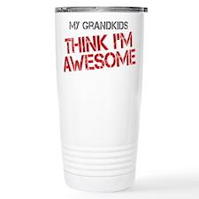 Grandkids Awesome Stainless Steel Travel Mug
