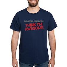 Great Grandkids Awesome Dark T-Shirt