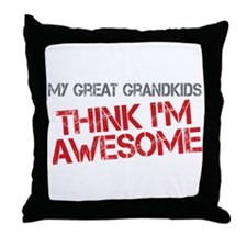 Great Grandkids Awesome Throw Pillow