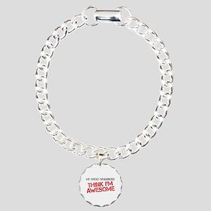 Great Grandkids Awesome Charm Bracelet, One Charm