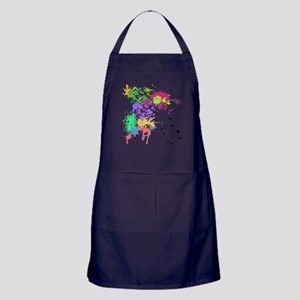 colourful unicorn print Apron (dark)