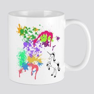 colourful unicorn print Mugs