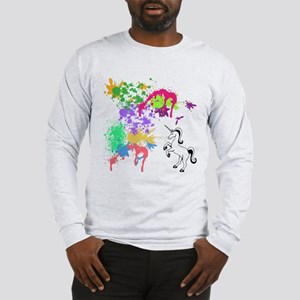 colourful unicorn print Long Sleeve T-Shirt