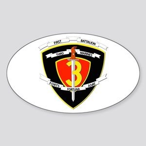 SSI - 1st Battalion - 3rd Marines Sticker (Oval)