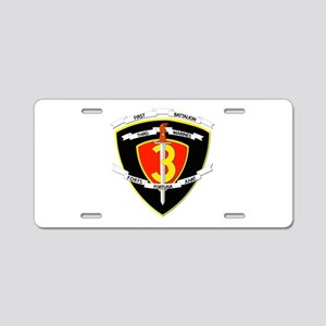 SSI - 1st Battalion - 3rd Marines Aluminum License