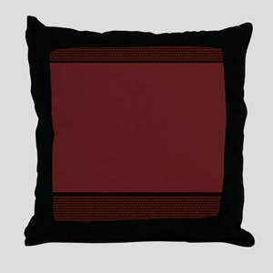 Basket Weave - Burgundy Throw Pillow