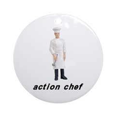 Action Chef Ornament (Round)