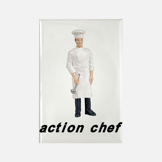 Action Chef Rectangle Magnet