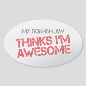 Son-In-Law Awesome Sticker (Oval)