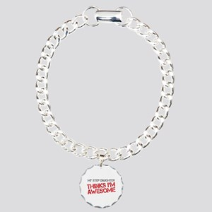 Step Daughter Awesome Charm Bracelet, One Charm