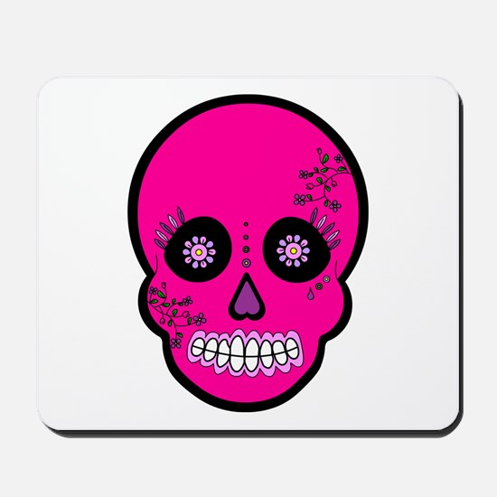Pink Sugar Skull Day of the Dead Mousepad